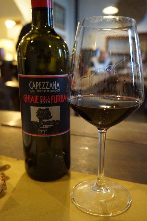 vino rosso Ghiaie della Furba, Tenuta di Capezzana