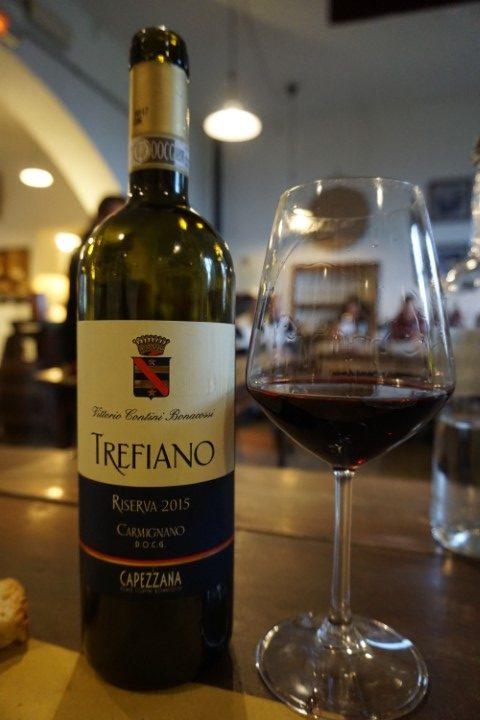 Trefiano vino rosso Tenuta di Capezzana