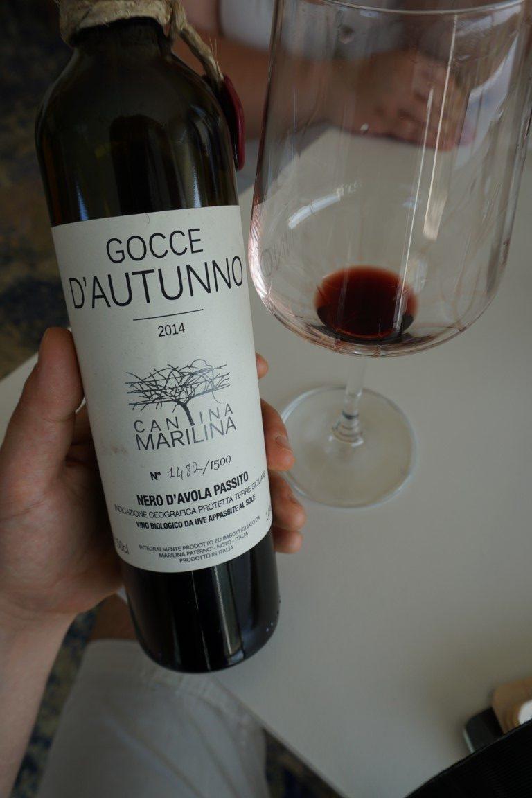 Gocce d'Autunno vino passito Cantina Marilina