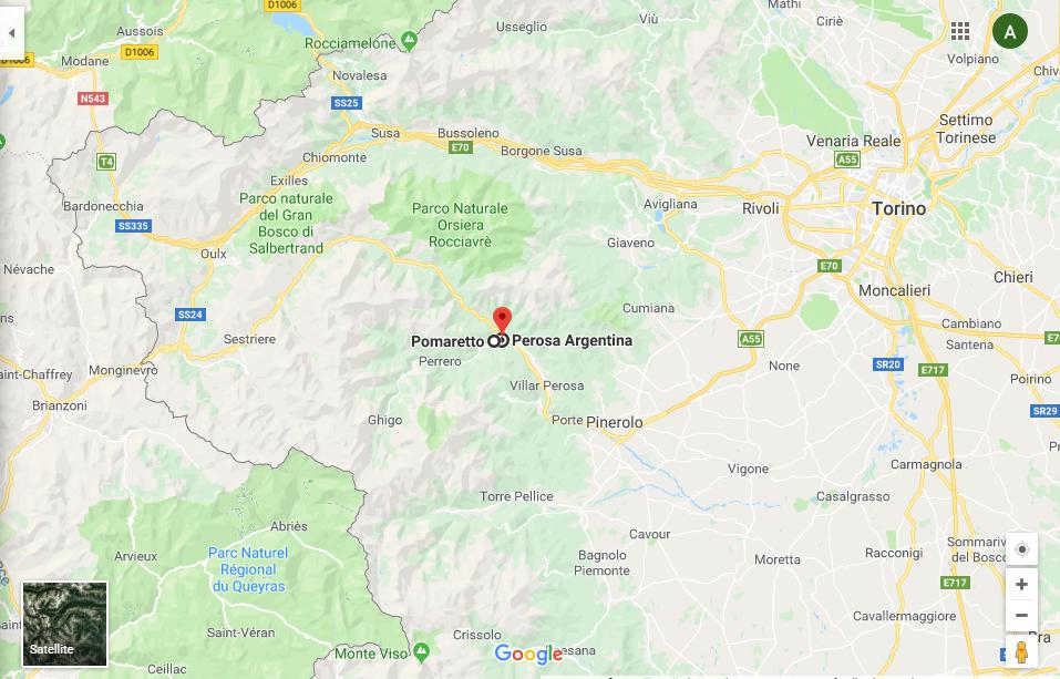 google maps zona di produzione Pinerolese Ramié
