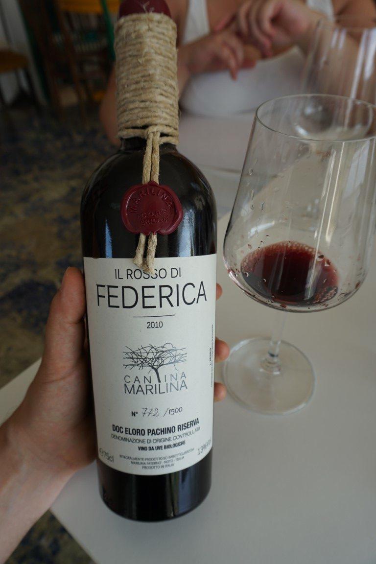 Vino Rosso di Federica Cantina Marilina