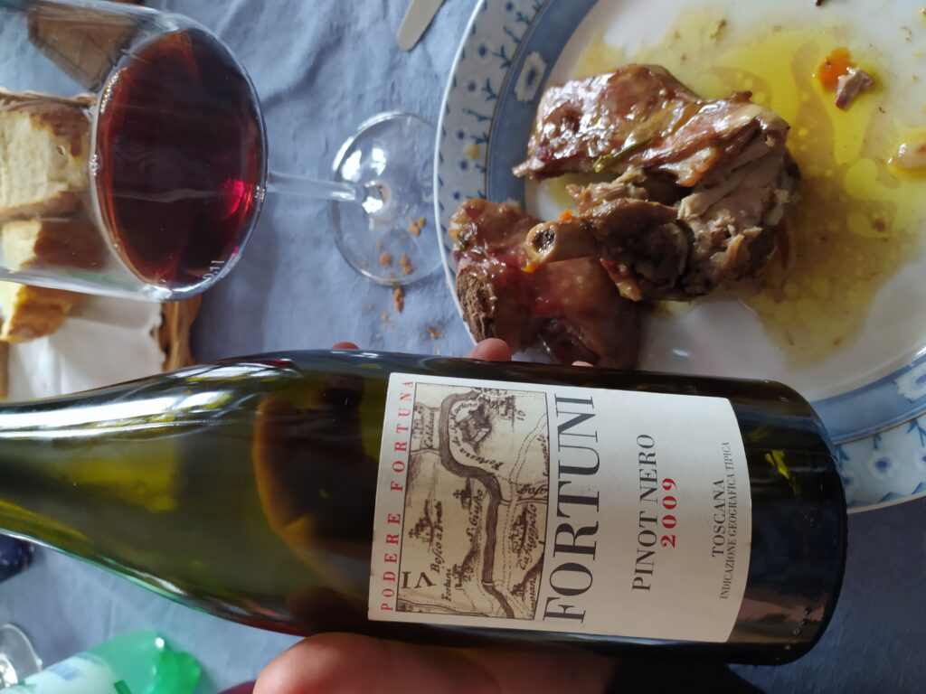 Pinot nero 2009 azienda Podere Fortuna